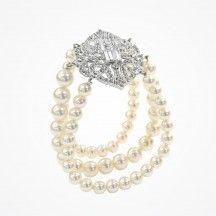 Paris pearl bracelet by Stephanie Browne