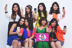 Team MissMalini's #GoRouge Selfie time!