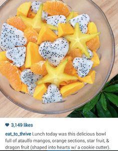 Starfruit dragonfruit tangerine mango