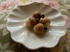 Beeswax acorns. Why not?