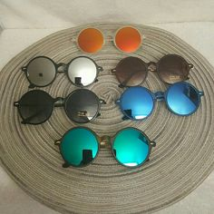 Unisex Mirrored Lens Sunglasses Round Top quality unisex sunglasses   #c8146  1 for 13 2 for 18  THIS POST IS JUST FOR 1 PAIR YOU YOU WANT MORE THAN ONE .  YOU BUY 2. ( AT FULL PRICE ) AND THE 3RD IS FREE .. ) YOU CAN PICK AND CHOSE FROM DIFFERENT  POST .  ( may not apply for all sunglasses) ask me if any questions. Other