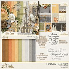 SILENT NIGHT add on bundle from Sherwood Studio is full of papers and elements that will compliment SANCTUARY bundle perfectly.  Together the make a mega bundle of digital scrapbooking goodness!  Find both at The Digi Chick