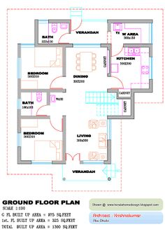 New house plans indian style duplex Ideas 2bhk House Plan, Cottage Style House Plans, House Plans 3 Bedroom, Basement House Plans, Duplex House Plans, House Layout Plans, House Layouts, House Floor Plans, Contemporary House Plans