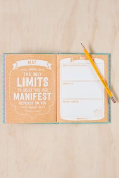 Write To Me - Manifest 2015 Diary Planner - Weekly - A5 (15x19cm) - Hard Cover - Blue