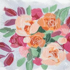 317 Likes, 25 Comments - Acrylic Painter Flower Paintings, Floral, Flowers, Instagram, Art, Paintings Of Flowers, Craft Art, Kunst, Gcse Art