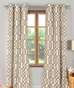Look at this Taupe Ashmont Blackout Curtain Panel - Set of Two on #zulily today!