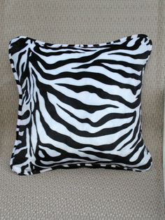 Decorative Throw Pillows in Zebra Print and by rrdesigns561