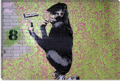 Ready to Hang Banksy Graffiti Canvas Street Art Prints by Banksy Canvas Prints, Canvas Artwork, Wall Art Prints, Banksy Graffiti, Bansky, Modern Canvas Art, Wallpaper Gallery, Urban Art, Street Art