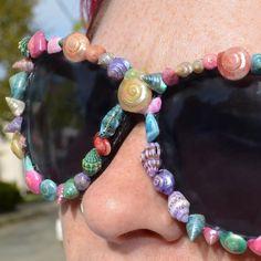 Rainbow Baby Seashell Sunglasses by RAKstarAndVintage on Etsy Cat Eye  Frames a46ad9aa50ef