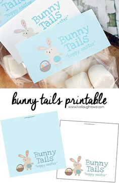 Free bunny tails bag topper printable easter party bag toppers bunny tails printable sweet bag toppers to use for packaging up marshmallows as bunny tails negle Image collections