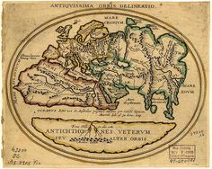 European Map of the World before 1492