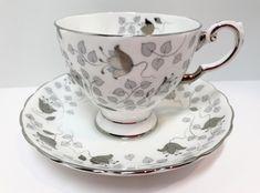 Tuscan Teacup and Saucer Antique Teacups Vintage Tea Cups Belleek China, White Coffee Cups, Bone China, Cup And Saucer, Bridesmaid Gifts, Vintage Teacups, Tea Time, Tea Cups, Antiques