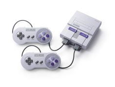 #SNES entertainment system: super nes classic edition w/ 2 controllers from $69.0