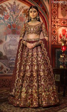 Designer Bridal Lehenga, Indian Bridal Lehenga, Red Lehenga, Indian Bridal Outfits, Pakistani Bridal Dresses, Indian Dresses, Lehenga Wedding, Indian Anarkali, Asian Wedding Dress