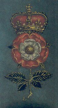 The Tudor Rose. Symbols of the House of York and the House of Lancaster united into the Tudor Rose. Used throughout the Tudor dynasty to proclaim their right to the crown of England.
