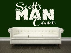 Custom Man Cave Vinyl Decal Personalized with Name Wall Sticker  | LilBitOLove - Housewares on ArtFire