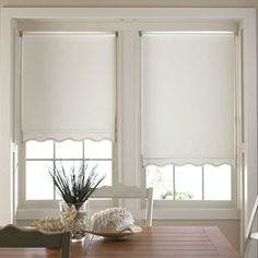 scalloped #shades window treatments
