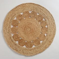 3' Round Jute Circle Rug | World Market-- too small, but similar for office