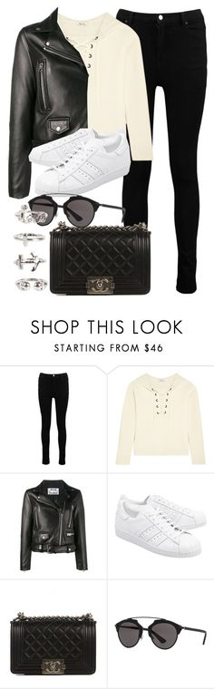 """""""Untitled #12007"""" by vany-alvarado ❤ liked on Polyvore featuring Boohoo, Madewell, Acne Studios, adidas Originals, Chanel, Christian Dior and NLY Trend"""