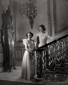 The princesses Elisabeth and Margaret Rose by Cecil Beaton. 1940s.