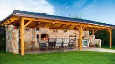 I like - Album uživatelky adec Diy Outdoor Kitchen, Backyard Kitchen, Outdoor Rooms, Outdoor Living, Backyard Patio Designs, Backyard Landscaping, Brick Bbq, Backyard Fireplace, Gazebo