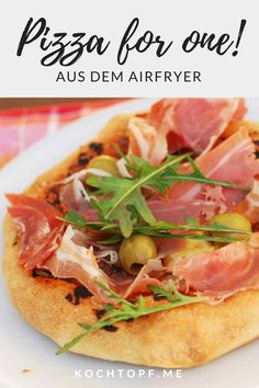 Pizza for one! Pizza for one aus dem Airfryer Actifry, Chef Recipes, Air Fryer Recipes, Different Recipes, Pizza, Nom Nom, Fries, Snacks, Eat