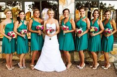 The ONE Dress multi wrap infinity wear convertible bridesmaids dress wear me again wedding  gown. teal wrap dress #weddings