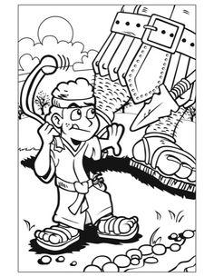 Coloring Page David Goliath