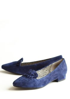 Bigger Fish To Fry Flats By BC Shoes 69.99 at shopruche.com. These luxurious navy suede flats feature charming ruffled details and chic pointed toes. Add these well-crafted shoes to any outfit for a classy touch.Leather upper, Balance man made, Imported, Slightly padded footbed, 0.75