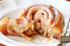 Easy cinnamon rolls with vanilla cream icing!