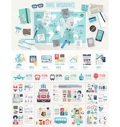 Travel infographic set vector by aviany on VectorStock®