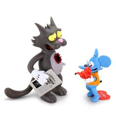 The Simpsons: Itchy and Scratchy Medium Figure (SEP2020) #thesimpsons #itchyandscratchy #kidrobot #fatsuma #itchy #scratchy #collectible #toy #designertoy #vinyltoy #arttoy #instagood #beautiful #love #art #fashion #new Vinyl Art, Vinyl Toys, Robots For Kids, The Simpsons, Yin Yang, Designer Toys, Toy Sale, Cool Toys, Bowser