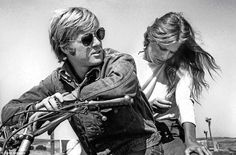 Robert Redford and Lauren Hutton, Sonoma, California, 1970 | From a unique collection of black and white photography at https://www.1stdibs.com/art/photography/black-white-photography/