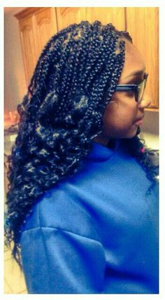 Box Braids With Curly Ends Keala S Kreative Braids