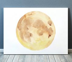 Lovely Moon print. Beautiful Moon phase art for your home and office. Cute Watercolor poster. Nice hand drawn Lunar print.  BUY 1 GET 1 FREE - use