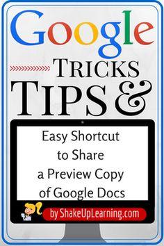 Amazing Shortcut for Sharing Google Docs!   Shake Up Learning  