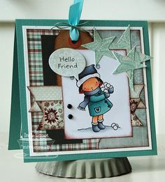 Patterned Paper - Papercrafts by Inge: Pure Innocence, Hello Friend