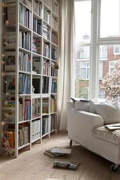 Books can make great displays. Having open bookshelves means kids' books can be kept on lower shelves where they can reach them