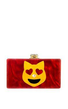 Edie Parker Happy Cat Jean Clutch by Edie Parker for Preorder on Moda Operandi
