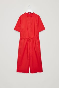 COS image 1 of Drawstring jumpsuit in Signal Red