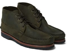 Quoddy washed-leather chukka boots #menswear