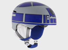 Today Burton and Star Wars present a new helmet to pair with their snowboard collection covered in R2-D2 graphics. The R2-D2 helmet is shaped just like a standard snowboard helmet, but sporting R2-D2 details all over it in blue, grey, black, and white.