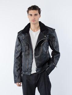 APLACE Avery Men's Leather Jacket - Deadwood