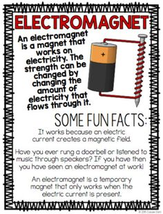 Electromagnet STEM Challenge by Cassie Dahl Science Fair Topics, Science Fair Board, Science Fair Experiments, Science Notes, Stem Science, Science Fair Projects, Science For Kids, Science Worksheets, Science Curriculum
