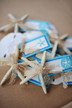 Starfish Name Cards For Your Beach Wedding