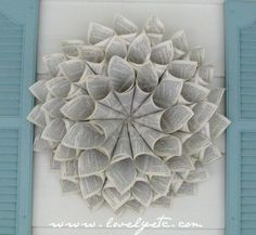25 Book Page Wreath Tutorials - Make Book Page Wreath for the library...put something festive in the middle, hang on fireplace.