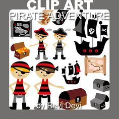 Pirate Adventure clip art 13011 (teacher resource) ahoy