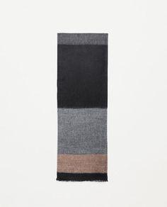Image 1 of JACQUARD MELANGE SCARF from Zara