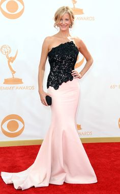 Anna Gunn from 2013 Emmys: Red Carpet Arrivals | E! Online - My favorites by @LetMeStartBySaying: so not my normal taste, but I just think she looks amazing.