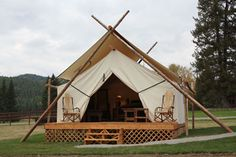 Glamorous Camping Tents in Whitefish Montana